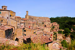 Tuscan hill town Stock Image
