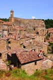 Tuscan hill town Royalty Free Stock Images