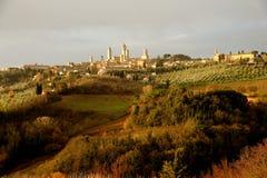 Tuscan Hills Stock Photography
