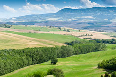 Tuscan hills landscape Stock Photo