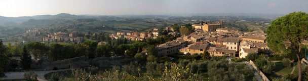 Tuscan hills near San Gimignano Royalty Free Stock Photo