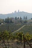 Tuscan hills near San Gimignano Stock Photo