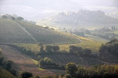 Tuscan hills near San Gimignano Stock Image