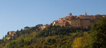Tuscan Hilltop Town, Montepulciano, Italy Stock Images