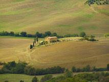 Tuscan hilly fall countryside Royalty Free Stock Photo