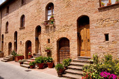 Tuscan historic architecture Stock Image