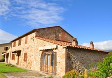 Tuscan house Tuscany   italy Royalty Free Stock Photos
