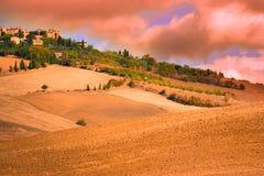 Tuscan Italien bygd Fotografering för Bildbyråer