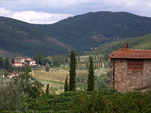 Tuscan landscape. Typical view into tuscany, italy Stock Image