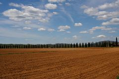 Tuscan landscape. Landscape in San Galgano - Tuscany - Italy Royalty Free Stock Photo