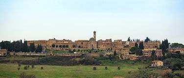 Tuscan landscape with ancient buildings of Barberino Val D`elsa. Royalty Free Stock Photos