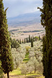 Tuscan landscape. Beautiful scenery in Tuscany, Italy Stock Photos