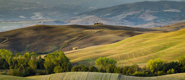 Tuscan landscape.Beautiful Tuscan  morning Royalty Free Stock Photo