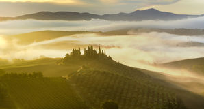Tuscan landscape.Beautiful Tuscan  morning Stock Photography