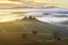 Tuscan landscape.Beautiful Tuscan  morning Royalty Free Stock Photography