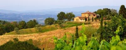 Tuscan landscape in evening sun Stock Image