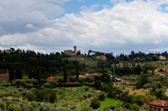 Tuscan landscape Florence, Italy Royalty Free Stock Images