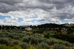 Tuscan landscape Florence, Italy royalty free stock photo