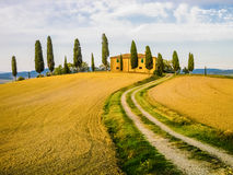 Tuscan landscape, Italy. Typical farm in tuscan landscape, Italy stock photography