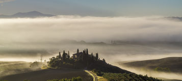 Tuscan landscape in the morning Stock Photography