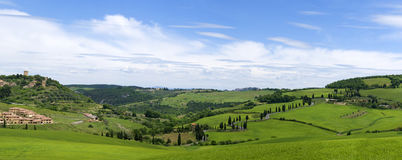 Tuscan landscape near the town of Monticello Stock Image
