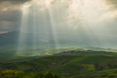 Tuscan landscape near Volterra (Pisa, Italy) Royalty Free Stock Photo