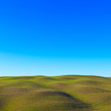 Tuscan landscape. Rolling hills near Siena Stock Image