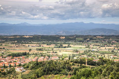 Tuscan landscape in San Miniato, Italy. View over the impressive landscape in Tuscany near San Miniato in Italy Royalty Free Stock Image