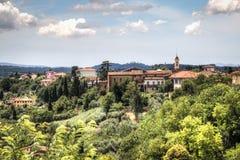 Tuscan landscape in San Miniato, Italy. View over the impressive landscape in Tuscany near San Miniato in Italy stock image