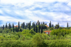 Tuscan landscape in Sirmione Royalty Free Stock Photo