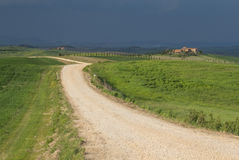 Tuscan landskap för stormen Fotografering för Bildbyråer