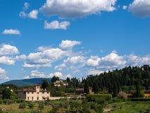 Tuscan landskap i Florence, Italien Arkivfoton