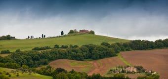 Tuscan landskap i Italien Arkivbild