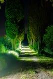 Tuscan Lane night Royalty Free Stock Photography
