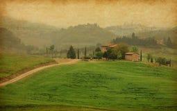 Tuscan lantgård, Italien Royaltyfri Fotografi