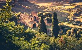 Tuscan manor Stock Photography