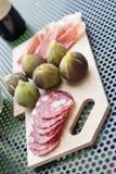Tuscan meatboard Royaltyfri Bild