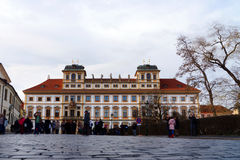 Tuscan palace at Hradcany Square, Prague, Czech Republic Royalty Free Stock Photo