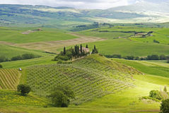 Tuscan plain before the rain. Stock Photos