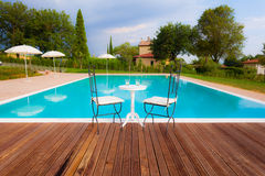 Tuscan pool Stock Photography