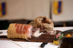 Tuscan products cured meat production Royalty Free Stock Photo