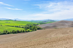 Tuscan rolling rural landscape view Stock Photography