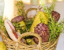 Tuscan salami (Italy) Royalty Free Stock Image