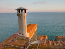 Tuscan Sea, Tuscany, Italy. Detail of the Tuscan Coast, Italy, during sunset Stock Photo