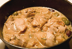 Tuscan stewed chicken Royalty Free Stock Photos
