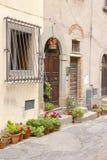 Tuscan street, Castagneto village, Tuscany Stock Photography