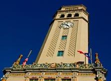 Tuscan-style clock tower Stock Photos