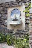 Tuscan Style Wall Water Fountain in Courtyard Royalty Free Stock Photography