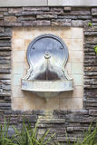 Tuscan Style Wall Water Fountain Stock Images