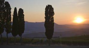 Tuscan sunset Stock Photo